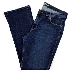 Old Navy Blue Stretch Denim Bootcut Jeans 16 Long